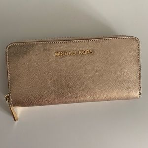 Gold Michael Kors wallet